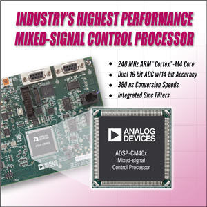 Analog Devices Release New Mixed-Signal ARM-M4 Processor