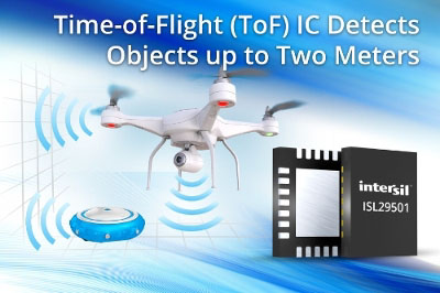 Intersil Releases Time-of-Flight IC with Object Detection and Distance Measuerment