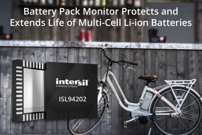Intersil Releases New Battery Pack Monitor