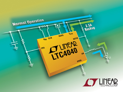 New 2.5A Backup Power Manager for Li-Ion Battery Backup Systems