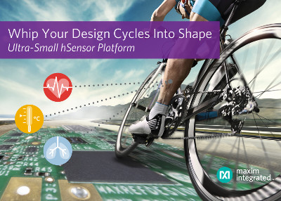 Maxim Releases New hSensor Platform for Design of Wearables and Fitness Devices