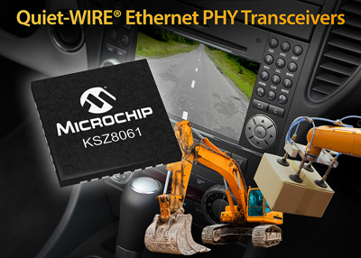 Microchip Releases New Ethernet PHY Transceiver