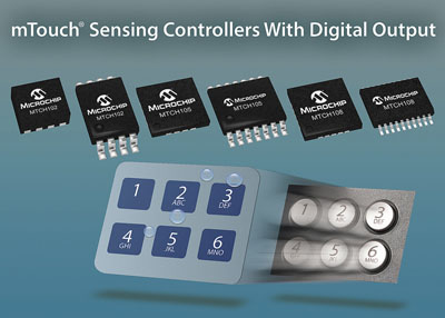 Microchips new MTouch Sensing Controllers Provide an Easy Method to Replace Mechanical Switches