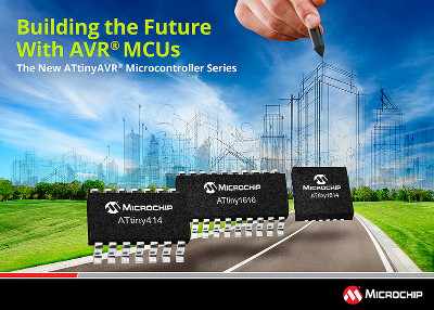 Microchip Releases New ATtiny1617 Series of AVR Microcontrollers