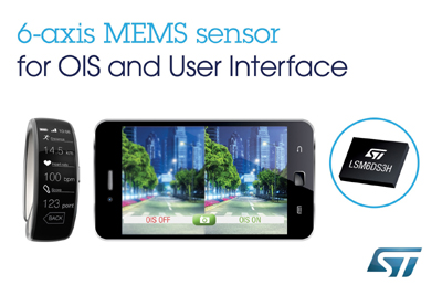New Motion Sensor from STMicroelectronics with 6-Axis Gyroscope/Accelerometer