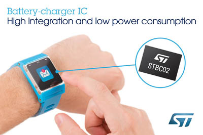 New Battery-Charger Chip from STMicroelectronics