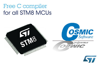 New C-Compiler for STMicroelectronics STM8 Range of 8-bit Microcontrollers