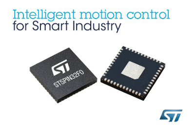 STMicroelectronics Combines Power and Simplicity in New Intelligent Motion-Control Device