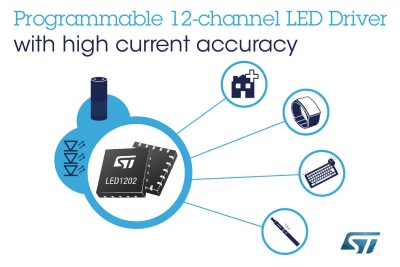 New Programmable 12-channel RGB-LED Driver Enhances Lighting Effects From ST