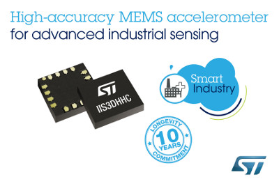 New High-Accuracy MEMS Sensors with 10-Year Product Longevity from STMicroelectronics