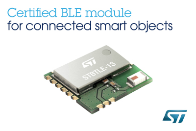 ST New Qualified Bluetooth® Low Energy Application Processor Module
