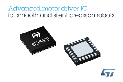New STSPIN820 Stepper Motor Driver from STMicroelectronics