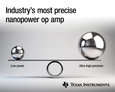 New Zero-Drift, Nanopower Amplifier from Texas Instruments