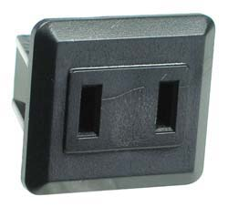 2 Pin Flat Female Socket