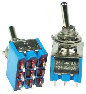 3PDT101 - 3PDT on-off-on Miniature Toggle Switch