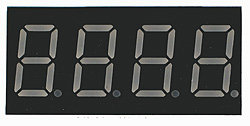 7FR5641AS - Four Hi-Red 0.56in Common Cathode 7-Segment LED Display