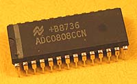 ADC0808CCN - ADC0808 8 bit A/D Convertor with 8-Channel Multiplexer