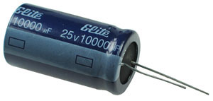 10 000uf 25v Radial Electrolytic Capacitor