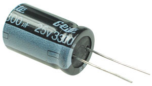 3300uF 25V Radial Electrolytic Capacitor
