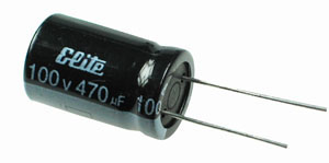 470uF 100V Radial Electrolytic Capacitor