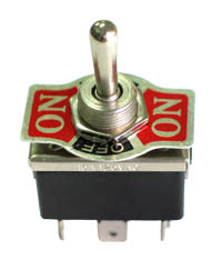 SPST10HDSCREW - DPDT101H - DPDT on-off-on Heavy Duty Centre Off Toggle Switch