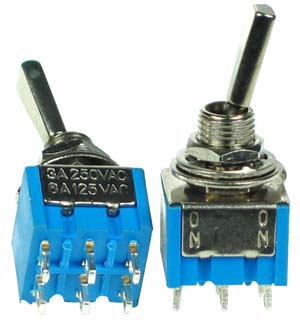 DPDT11FA - DPDT On-On Flattened Actuator Miniature Toggle Switch