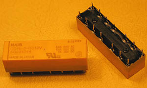 DS4E-S-DC12V - 4PDT 12V 2A DIP Relay