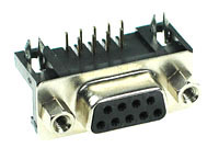 DSUBPCF9 - 9 Contact Female PC Mount Connector