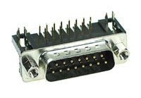 DSUBPCM15 - 15 Contact D-Subminiature Male PC Mount Connector