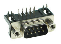 DSUBPCM9 - 9 Contact Male PC Mount Connector