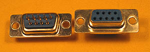 DSUBPCSF9 - 9 Contact Female PCB Mount Straight Connector