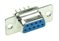 DSUBPCSF9 - 9 Contact Female D-Sub Straight PC Mount Connector