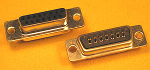 DSUBSCF15 - 15 Contact D-Subminiature Female Solder Cup Connector