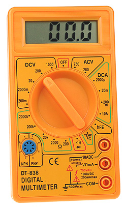 Basic 3.5 Digit Multimeter with Temperature Measurement