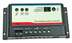 10A Dual Battery Solar Charge Controller
