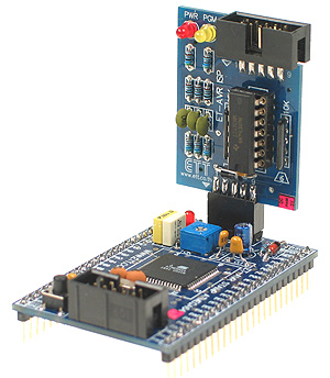 Click for Larger Image - ET-AVR ISP Connected to the ET-AVR Stamp