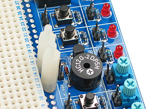 Click for Larger Image - LED's, Pushbuttons, Analogue Inputs, Speakers, already Included