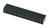 FHEADD32 - 32 Pin .100inch Straight Female Double Headers