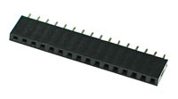 FHEADS16 - 16 Pin .100inch Straight Female Single Headers