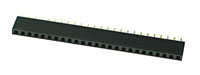 FHEADS25 - 25 Pin .100inch Straight Female Single Headers