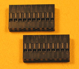 "HDCONND20 - 20 (2x10) Pin .100"" Double Row Header Connector"