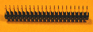 HEADD40 - 40 Pin .100inch Straight Male Double Row Headers