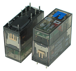 HF115FP-024DC - DPDT 24VDC 8A PCB Power Relay