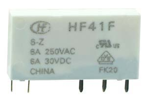 HF41F-09-Z - SPDT 9V 6A Slim Vertical Mount Relay