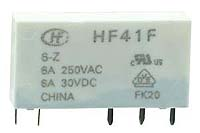 HF41F-05-Z - SPDT 5V 6A Slim Vertical Mount Relay