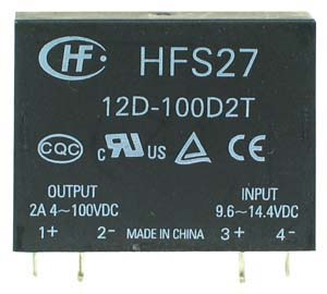 SSR2A100D - SPST 3-100Vdc 2A DC/DC Solid State Relay