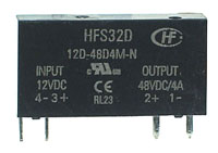SSR3A48D05 - SPST 0-48Vdc 3A DC/DC Solid State Relay