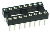 ICS16MT - 16 Pin Machine Tooled IC Socket