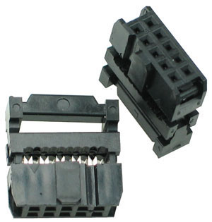 IDCC10 - 10 Contact IDC Socket Connector
