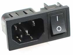 IEC Male Socket with Switch